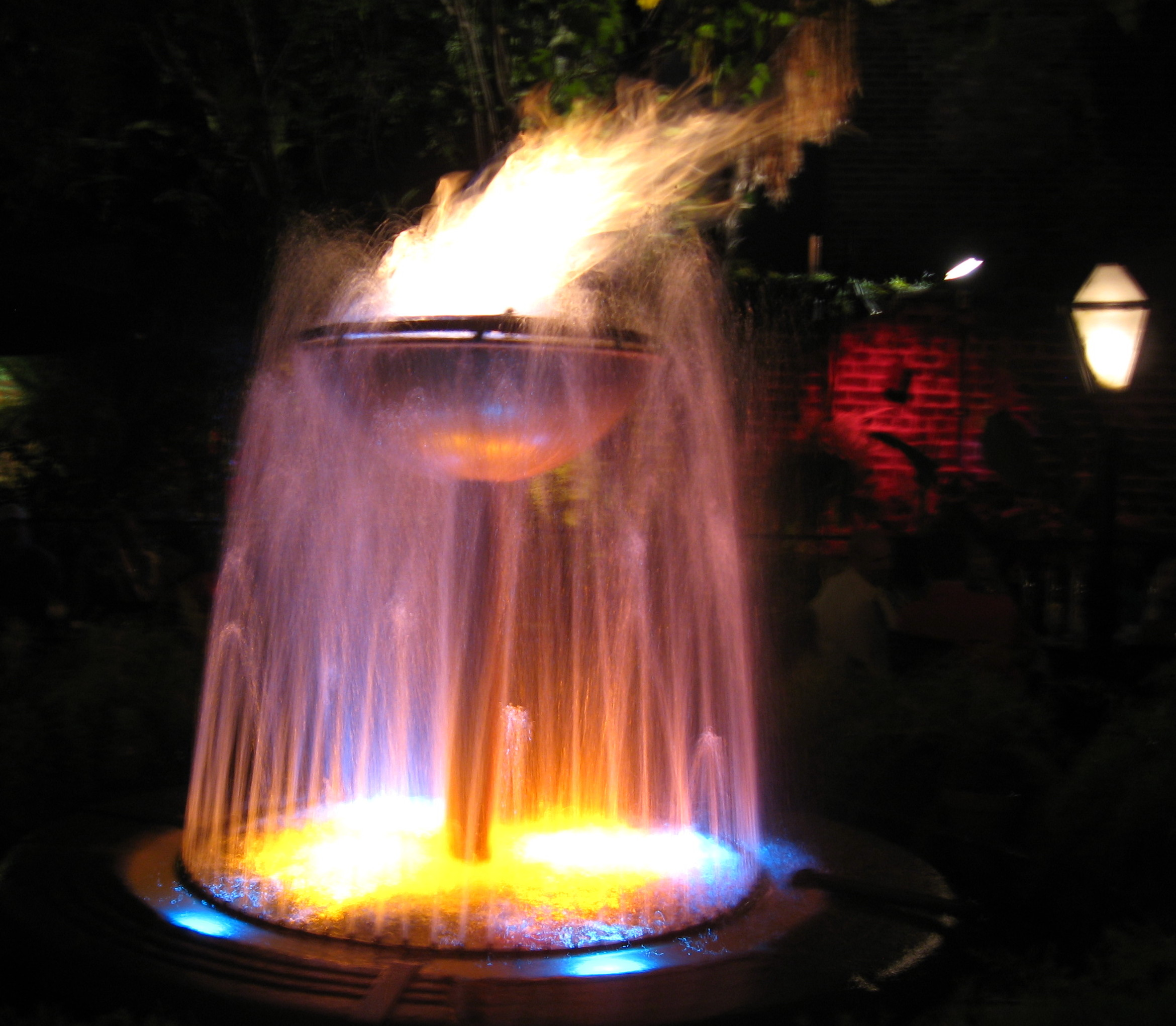 Fire fountain lamentations on chemistry for Fire and water features