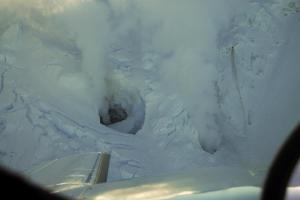 Redoubt Fumaroles 1-31-09 (Photo AVO/USGS)