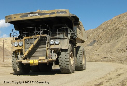 Haul Truck Carrying Rock from Blasting Site to Crusher
