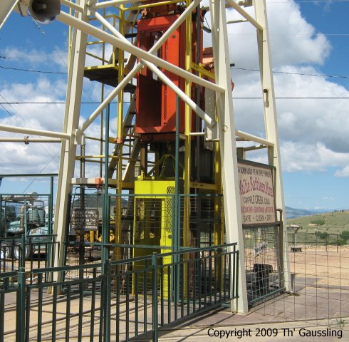 Double Decker Manlift at Mollie Kathleen Mine