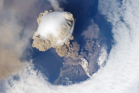 Eruption of Sarychev Volcano as seen from ISS