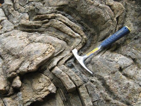 Folded Rock Formation , Roadcut on CO 119 near Blackhawk