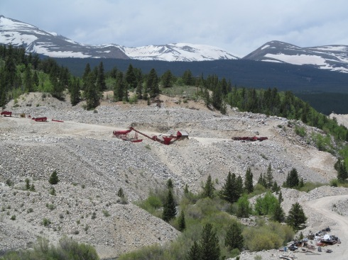 Placer mining north of Fairplay 6-14-14